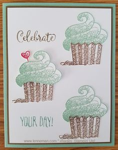 Pick 1 New Cupcake Happy Birthday Party Present rubber new Stamp Retired