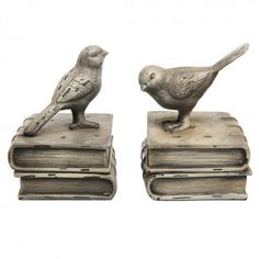 Sweet Bird French Style Book Ends