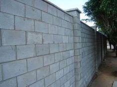 Elementary Classroom Rules, House Gate Design, Block Wall, House Elevation, Backyard Fences, Concrete Wall, Cinder, Sidewalk, Construction