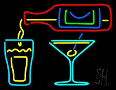 Cocktails Bar Open Neon Sign 24 Tall x 31 Wide x 3 Deep, is 100% Handcrafted with Real Glass Tube Neon Sign. !!! Made in USA !!!  Colors on the sign are Yellow, Pink, Green, Turquoise Red and Blue. Cocktails Bar Open Neon Sign is high impact, eye catching, real glass tube neon sign. This characteristic glow can attract customers like nothing else, virtually burning your identity into the minds of potential and future customers.