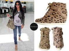 Heeled sneakers are IN. Throw some on with skinny jeans and a crop jacket for a look like this one....
