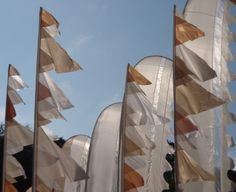 Silk pennant flags.