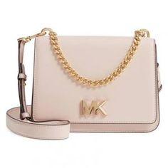 Michael Kors Large Soft Pink Leather Mott Chain Swag Shoulder Bag - Off Pink Leather, Leather Bag, Michael Kors Sale, Large Shoulder Bags, Bag Sale, Leather Shoulder Bag, Swag, Nordstrom, Chain