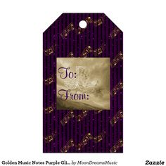 #GoldenMusicNotes #PurpleGlitterStripes #GiftTags #PackOf10 by #MoonDreamsMusic #FauxGlitter #SweetlyScrapped