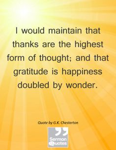 Grateful people are happy people.