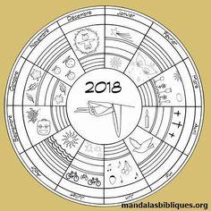 Un mandala pour l'année 2018 #mandala