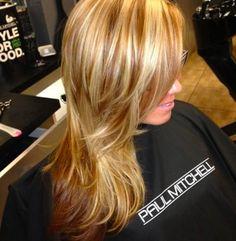 blonde with carmel underneath