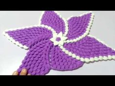 Rüzgar gülü lif modeli - YouTube Crochet Butterfly, Crochet Flower Patterns, Baby Knitting Patterns, Loom Knitting, Crochet Designs, Crochet Flowers, Puff Stitch Crochet, Crochet Stitches, Freeform Crochet