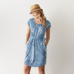 Women's+SONOMA+Goods+for+Life+Print+Fit+&+Flare+Dress