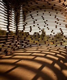 Belgian architects Pieterjan Gijs and Arnout Van Vaerenbergh have completed a see-through church in Limburg, Belgium. Gaps between these plates allow visitors to see through the walls.
