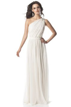 Unique Wedding Dresses, Bridal Gowns, Bridesmaid Dresses, Prom Dresses & Event Dresses by MyBridalDress One Shoulder Bridesmaid Dresses, White Bridesmaid Dresses, Wedding Dresses 2014, Wedding Dress Styles, One Shoulder Wedding Dress, Wedding Gowns, Shoulder Dress, Bridesmaids, Shoulder Strap