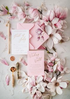 $7.00 Romantic handmade wedding invitation design with modern calligraphy. Whole design is touched with elegance and love. Envelope with flower liners, delicate ribbon made from 100% pure silk. Perfect, elegant and sophisticated invitation for your perfect wedding.