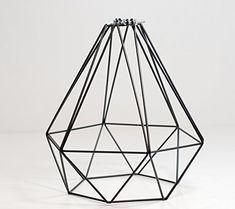 DIAMOND WIRE PENDANT CAGE LAMP LIGHT SHADE | Midnight Black