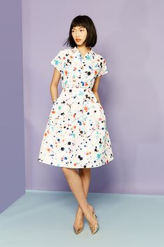 Smile! It's #Spring. Break out of winter's chill with bright #dresses from #KateSpade and more.
