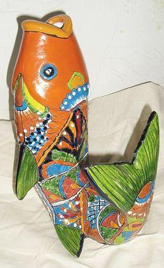 Handmade+Talavera+Decorative+Fish+Planter+by+TatsGramsDelights,+$45.00