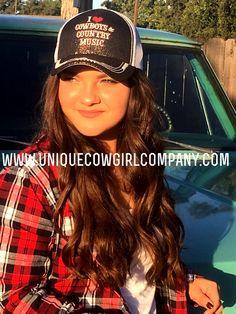 I Love Cowboys and Country Music Ball Cap @ www.UniqueCowgirlCompany.com