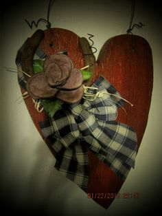 CowGirl Valentine Door Hanger by HumptyDumptyMagic on Etsy, $40.00