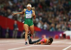 track fall finish line | Runner Falling