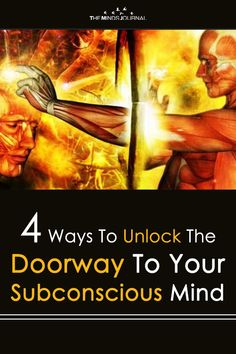 4 Ways To Unlock The Doorway To Your Subconscious Mind is part of Mindfulness journal - 4 Ways To Unlock The Doorway To Your Subconscious Mind experiment and explore, and you will find something that works for you maintain an open mind Mind Reading Tricks, Mind Tricks, Psychology Books, Psychology Facts, Subconscious Mind Power, Psychic Development, Spirit Science, Psychic Abilities, Spiritual Awakening