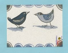 July Birds by LyndaBarryArt on Etsy