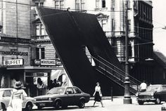 """""""Inclined Plane"""" in Vienna, 1976. Photo © Haus-Rucker-Co"""