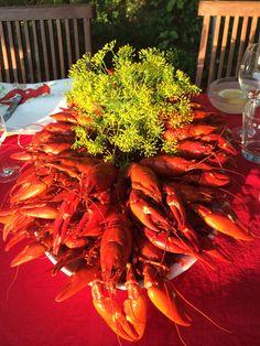 Finnish Crayfish Party! Shrimp, Parties, Meat, Food, Fiestas, Essen, Meals, Party, Yemek