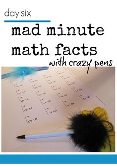 learn and play independently: tabletop surprises week 2 | mad minute #math facts with crazy pens #weteach