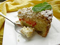 """Hungry Couple: Strawberry Cheese Crumb Cake... """"Moist cake with layers of strawberry jam, creamy cheesecake and generous crumb topping"""""""