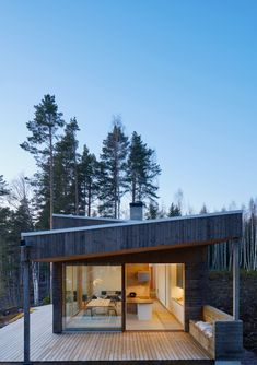 Sweden Summer House Amazingly Merges With The Surrounding Nature - image 23 Small Summer House, Outside Room, Home On The Range, Dream House Exterior, Cabin Interiors, Stone Houses, Prefab, Beautiful Interiors, Home Interior Design