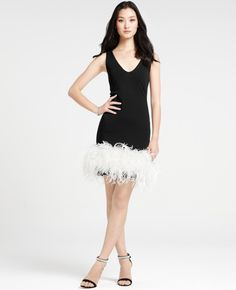 Feather cocktail dress