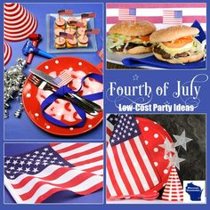 Low-Cost Fourth of July Party Ideas - WI Homemaker - This Fourth of July add a bit of sparkle and, of course, the Red, White and Blue with these super DIY projects, tips and tricks that are quick and easy to do, plus easy on the budget.