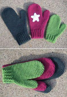 How to Make Crochet Mittens - Crochet - Handimania Crochet Arm Warmers, Crochet Mitts, Crochet Kids Scarf, Crochet Mittens Free Pattern, Crochet Slippers, Crochet Beanie, Knit Or Crochet, Crochet Scarves, Crochet Crafts