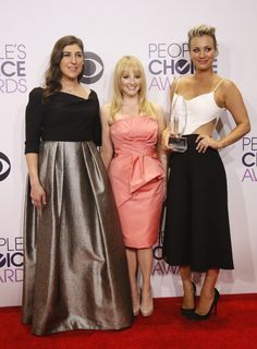 Melissa joined her The Big Bang Theory co-stars Mayim Bialik and Kaley Cuoco-Sweeting at the People's Choice Awards.