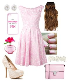 """Pink Rose"" by briony-jae ❤ liked on Polyvore"