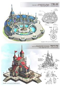 Fantasy City, Fantasy Castle, Fantasy House, Fantasy Places, Fantasy Map, Fantasy World, Fantasy Concept Art, Fantasy Artwork, Building Art