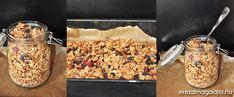 Fahéjas- kókuszos cukormentes házi granola   Érezd Magad Jól - Diéta és Egészséges életmód Granola, Burlap Crafts, Paleo, Cookies, Vegetables, Desserts, Recipes, Food, Crack Crackers