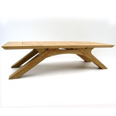 Arch Coffee Table - handmade in sustainable French oak Bespoke Furniture, Unique Furniture, Wood Furniture, Outdoor Furniture, Tea Table Design, Wood Table Design, Bed Design, Wooden Dining Tables, Oak Table