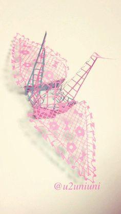 3D paper cutting art by Uni