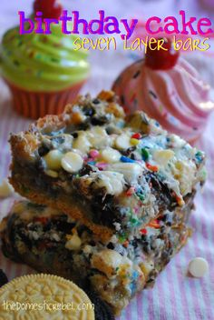 Birthday Cake Seven Layer Bars | The Domestic Rebel
