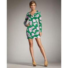 Diane von Furstenberg Reina Printed Dress, Green