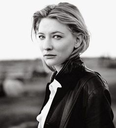 Pin from Vanity Fair. Picture of Cate Blanchett by Annie Leibovitz. Black&white & shallow depth of field make this a very strong portrait. Beautiful Celebrities, Beautiful People, 3 4 Face, Annie Leibovitz Photography, Foto Top, Best Actress, Famous Faces, Portrait Photographers, Movie Stars