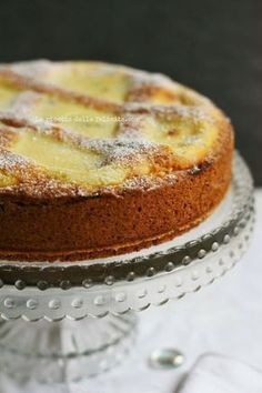 The recipe for happiness: mascarpone tart with chocolate chips . and a special pastry! Italian Cake, Italian Desserts, Just Desserts, Delicious Desserts, Yummy Food, Pie Recipes, Sweet Recipes, Dessert Recipes, Cooking Recipes