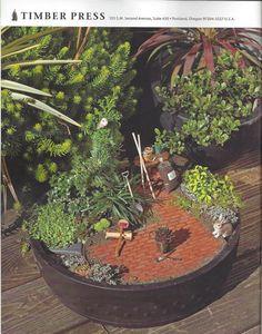 A backyard getaway. Miniature Gardening with Timber Press #miniaturegarden @Timber Press