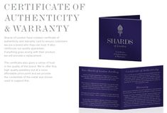 With each www.shardsoflondon.com piece you get a certification of authenticity and warranty 💯  #Jewellery #Jewelry