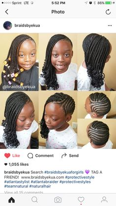 teenage hairstyles for school Signs Little Girl Braid Styles, Kid Braid Styles, Little Girl Braids, Black Girl Braids, Braids For Kids, Girls Braids, Kid Styles, Lil Girl Hairstyles, Girls Natural Hairstyles