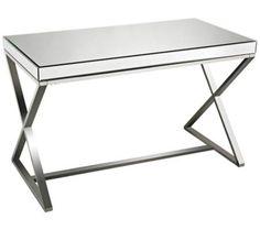Klein Mirror-Top Chrome Steel Writing Desk | 55DowningStreet.com