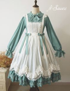 here be dragons — A-Sauce Cinderella apron preorder Harajuku Fashion, Kawaii Fashion, Lolita Fashion, Cute Fashion, Vintage Fashion, Rock Fashion, Gothic Fashion, Dress Outfits, Fashion Dresses