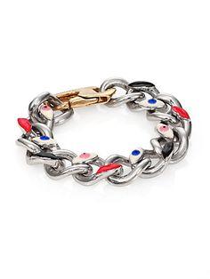 Delfina Delettrez - Sterling Silver Chunky Link Bracelet - Saks.com