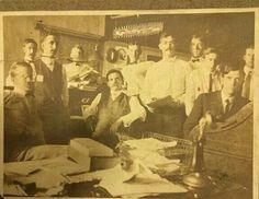 1903- Pat Garrett (Seated in the middle) as a Customs Inspector in El Paso, TX
