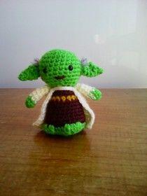 Amigurumi Yoda Patron : Yoda Amigurumi de Star Wars - Patron Gratis en Espanol ...